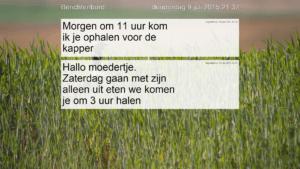 berichtenbord screenshot