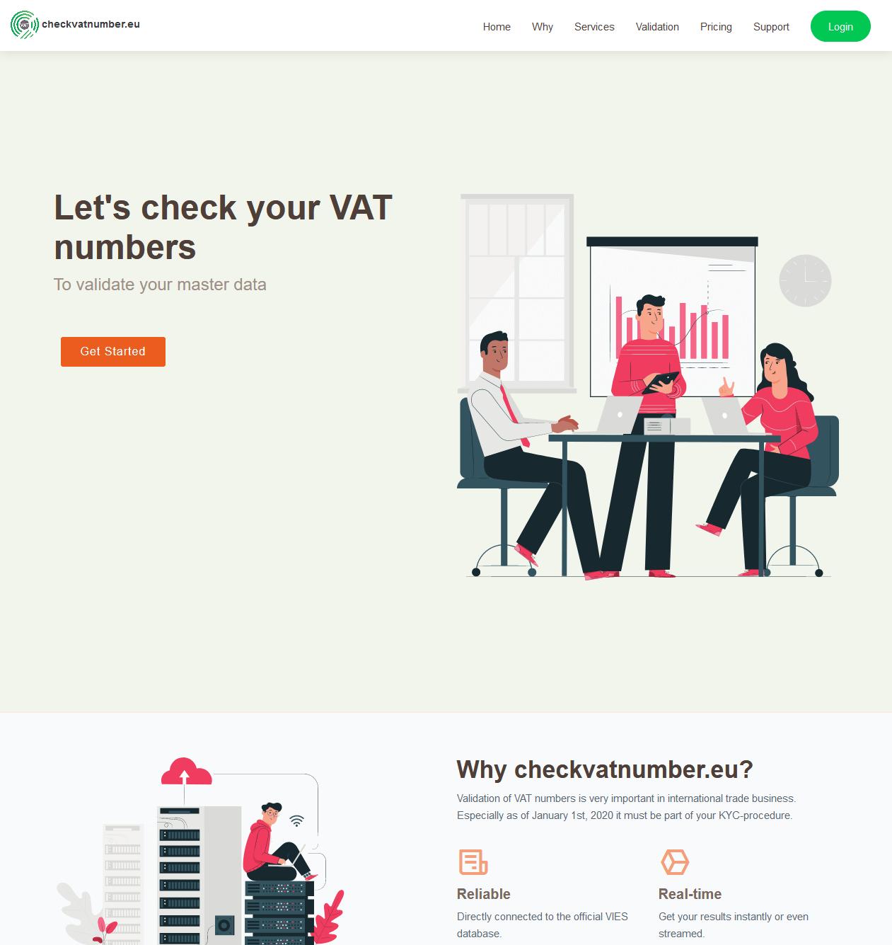 check vat number site